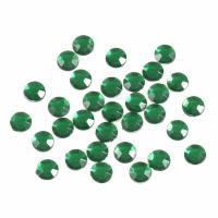 Acrylic Stones - Glue-On - Round - 7mm - Green (Trimits)