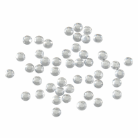 Acrylic Stones - Glue-On - Round - 4mm - Clear (Trimits)