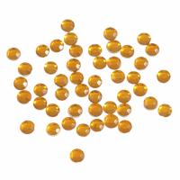 Acrylic Stones - Glue-On - Round - 4mm - Gold (Trimits)