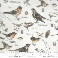 Moda - Botanicals - Birds - 16910 11 (Parchment)