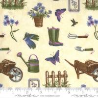 Moda - Violet Hill - Gardening Elements - 6821 17 (Eggshell)