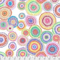 Mosaic Circles - White - PWGP176.WHITE - Kaffe Fassett Collective