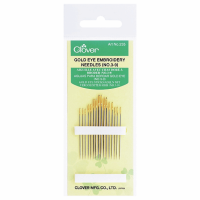 Embroidery Needles - Gold Eye - Sizes 3-9 (Clover)
