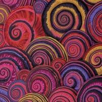 Spiral Shells - Red - PWPJ073.REDXX - Kaffe Fassett Collective