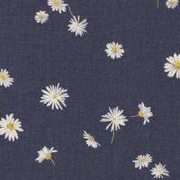Denim - Ragged Daisies Print  - No. 1002 - The Denim Studio by Art Gallery Fabrics