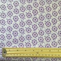 Poly Cotton Blend - Flowers - Purple / Lilac