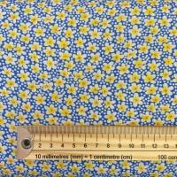 Viscose - Daisies - No. KF8182 - Blue / Yellow