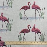 Hessian - Large Flamingoes
