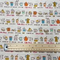 Linen-look Cotton - Coffee House - No. 81410 - Sevenberry
