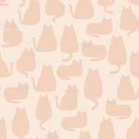Makower - Whiskers & Dash - Whiskers - 9168/LE (Pale Pink)