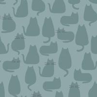 Makower - Whiskers & Dash - Whiskers - 9168/T (Sky)