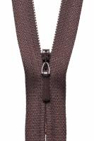 Concealed Zip - 20cm / 8in - Brown