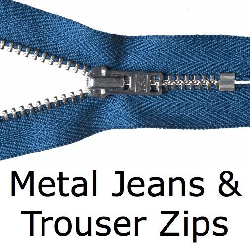 Metal Jeans & Trouser Zips