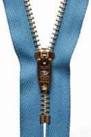 Brass Jeans Zip - 10cm / 4in - Airforce Blue