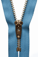 Brass Jeans Zip - 15cm / 6in - Airforce Blue