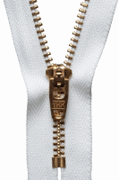 Brass Jeans Zip - 20cm / 8in - White