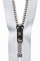 Metal Trouser Zip - 15cm / 6in - White
