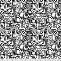 *NEW!* - Onion Rings - Black - QBBM001.BLACK - Kaffe Fassett Quilt Backing