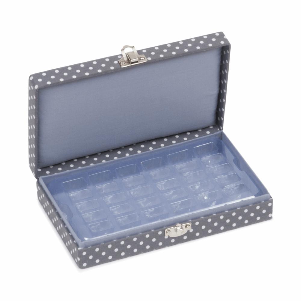 Bobbin Box - Mini Grey Spot (Hemline)