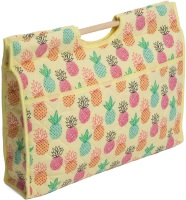 Craft Bag with Wooden Handles - Pineapples (Groves Hobby Gift)