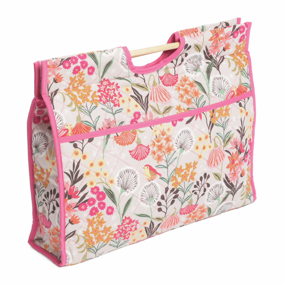 Craft Bag with Wooden Handles - Dandelion Garden (Groves Hobby Gift)