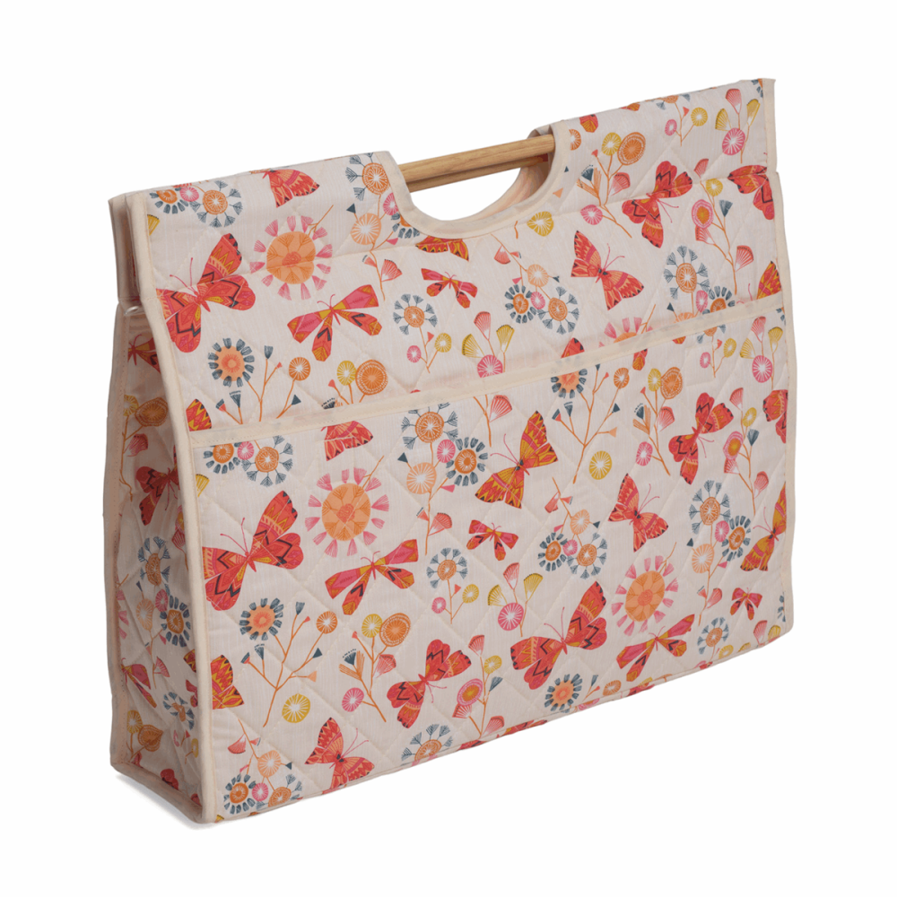 Craft Bag with Wooden Handles - Butterflies (Groves Hobby Gift)