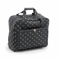 Sewing Machine Bag - Charcoal Spot (Groves Hobby Gift)