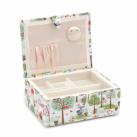 Sewing Box - Stool Style - Large - Crafty Cats in the Garden (Groves Hobby Gift)