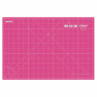 "Cutting Mat - Medium - 45cm x 30cm / 18"" x 12"" - Pink (Olfa)"