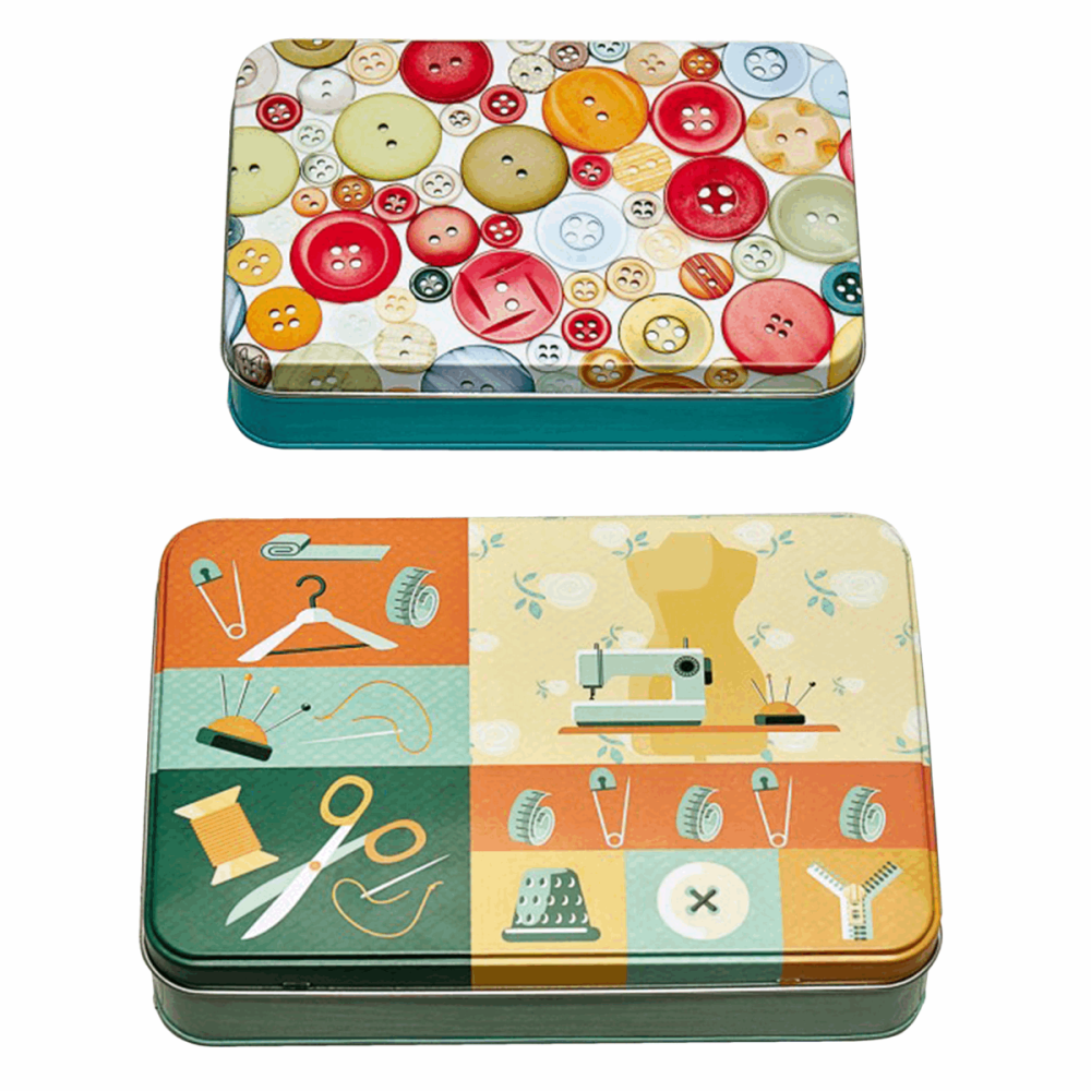 Sewing Themed Tins -  Colourful (Groves)