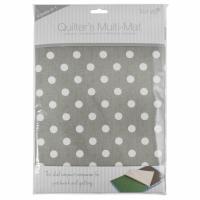 Quilter's Multi-Mat - A4 (30 x 24cm) - Grey Polka Dot (Trimits)