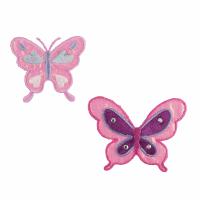 Motif - Butterflies - Big & Small - Pink & Purple (Two)