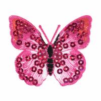 Motif - Butterfly - Pink Sequin