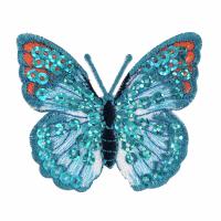 Motif - Butterfly - Blue Sequin