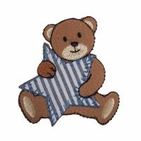 Motif - Teddy Bear - Blue Stripe Star