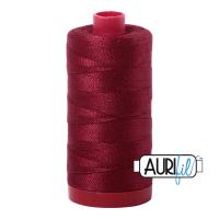 Aurifil Cotton 12wt, 2460 Dark Carmine Red