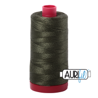 Aurifil Cotton 12wt, 5012 Dark Green