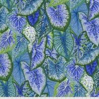 Caladiums - Blue - PWPJ108.BLUE - Kaffe Fassett Collective