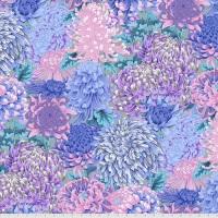 Hokusai's Mums - Grey - PWPJ107.GREY - Kaffe Fassett Collective