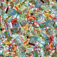 Makower - Around the World - Labels - No. 2399/1 (Multi)