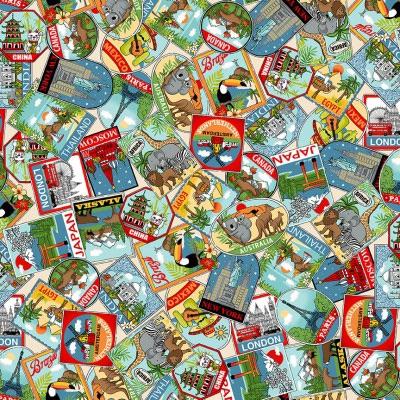 <!--20210825-->Makower - Around the World - Labels - No. 2399/1 (Multi)