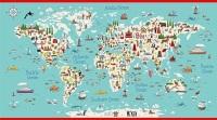 Makower - Around the World - Panel - 2398/1 (Multi)