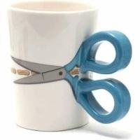 Scissors Mug - Blue