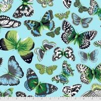 Butterflies - Aqua - PWSL094.AQUA - Snow Leopard Designs