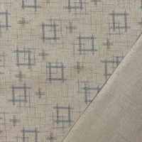 Sevenberry Japanese Fabric - Igeta Well - No. 88222 Colour: 1 - 1 (Taupe)