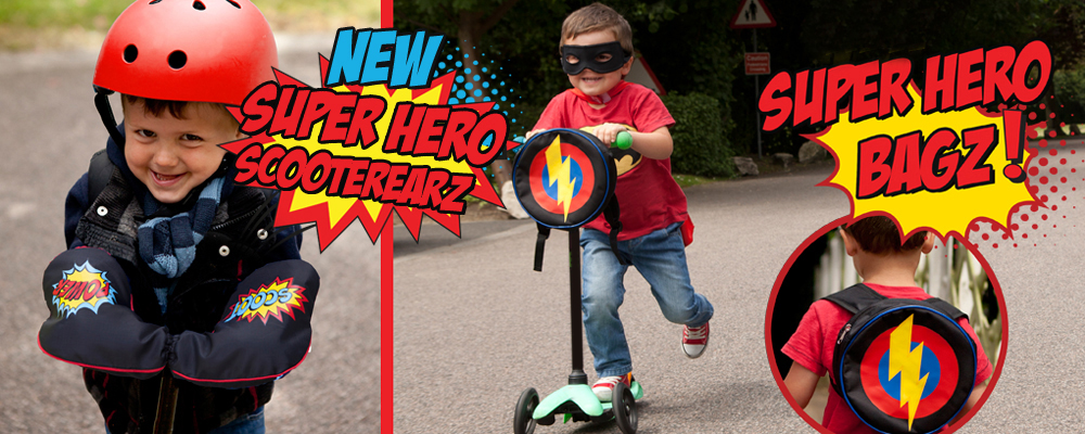 super hero scooterearz