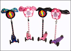 Complete bundle of matching Scooterearz, Bagz and Reflectz