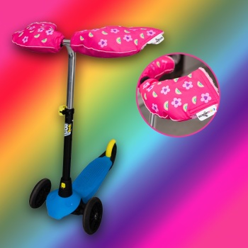 NEW! Rainbow Flower Scooterearz Handwarmers