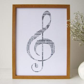 treble clef print