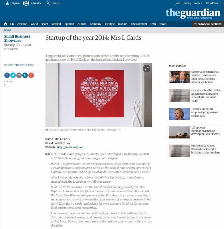 theguardian start up of the year